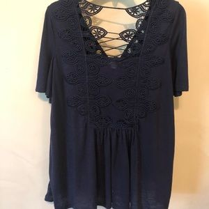 Navy knit top